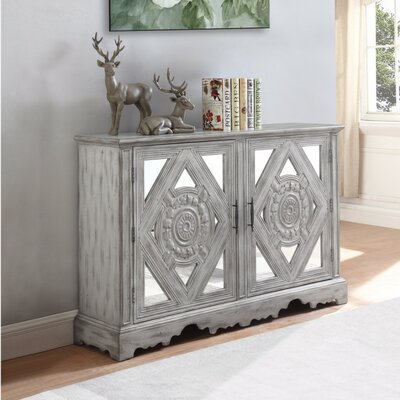 Wilkins Distressed Wooden Accent Cabinet