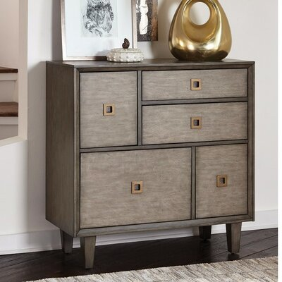 Kensa Sophisticated 5 Drawer Accent Chest