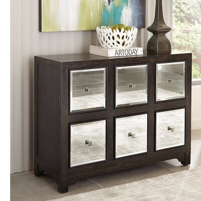 Njie Contemporary Elegant Wooden 6 Drawer Accent Chest