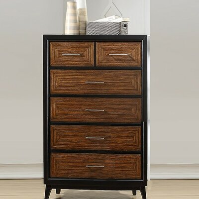 Preas Dual Tone 6 Drawer Accent Chest