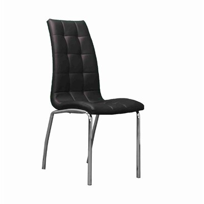 Weyman Upholstered Dining Chair Upholstery: Black
