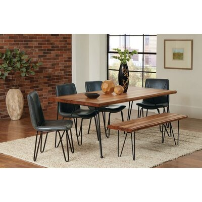 Pittenger 6 Piece Dining Set Chair Color: Gray
