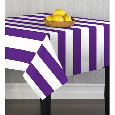 Caius Cabana Stripe Table Cloth Color: Purple