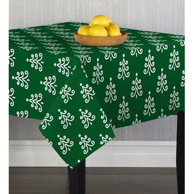 Chriopher Christmas Trees on Table Cloth