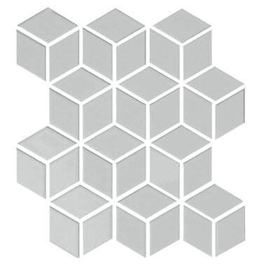 "Shape 2"" x 2"" Porcelain Mosaic Tile in Gray"