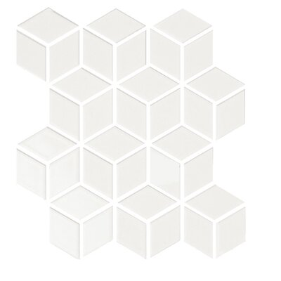 "Shape 2"" x 2"" Porcelain Mosaic Tile in Beige"