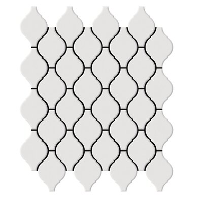 "Shape 2"" x 2"" Porcelain Mosaic Tile in White"