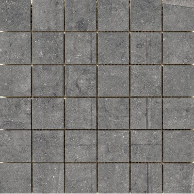"Blue Emotion 2"" x 2"" Porcelain Mosaic Tile in Gray"