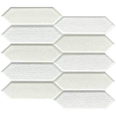 "Picket 2"" x 4"" Glass Mosaic Tile in Beige"