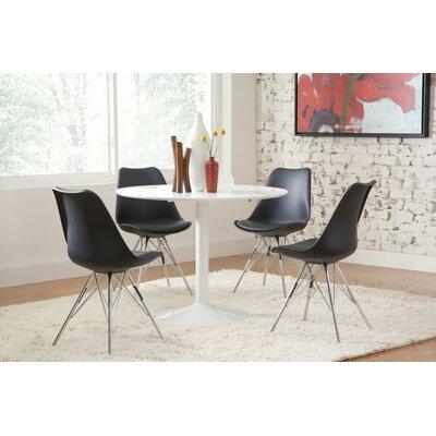 Pazarli 5 Piece Dining Set Chair Color: Black