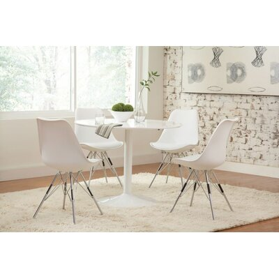 Pazarli 5 Piece Dining Set Chair Color: White
