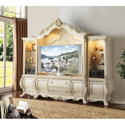 Larosa Entertainment Center Color: Antique White