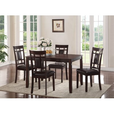 Phares Wooden 5 Piece Dining Set