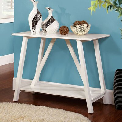 Fulghum Console Table Color: White