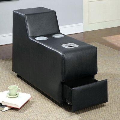 Coizer Contemporary Speaker Storage Ottoman Color: Black