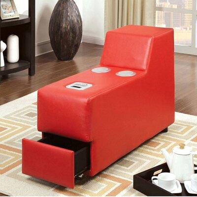 Coizer Contemporary Speaker Storage Ottoman Color: Red