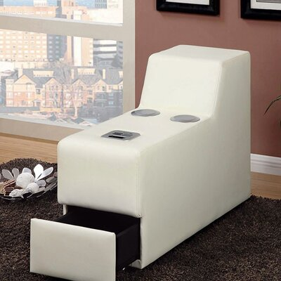 Coizer Contemporary Speaker Storage Ottoman Color: White