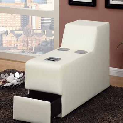 Coizer Contemporary Speaker Storage Ottoman Color: White
