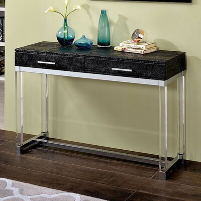 Fugate Console Table Table Top Color: Black
