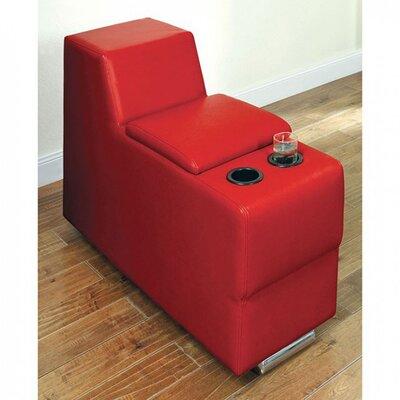 Sarran Storage Ottoman Color: Red