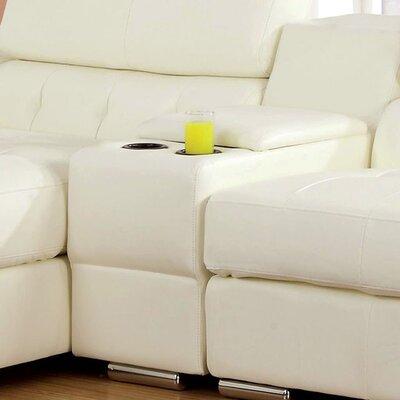 Sarran Storage Ottoman Color: White