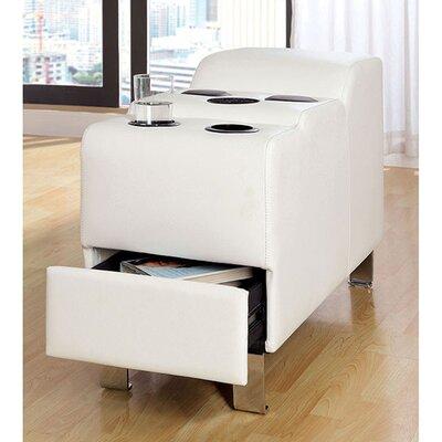 Dowlin Speaker Storage Ottoman Color: White