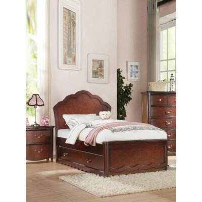 Shetty Mate's & Captain's Bed with Drawers Bed Frame Color: Cherry Brown, Size: Twin