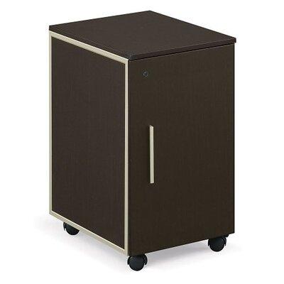 Gadson 1-Drawer Mobile Vertical Filing Cabinet Color: Espresso