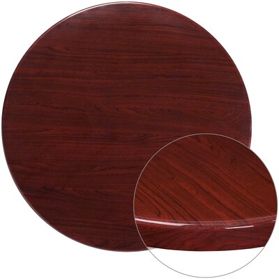 "Farren Round High-Gloss Resin Table Top Size: 36"" L x 36"" W"