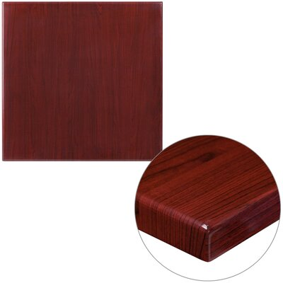 "Farrand Square High-Gloss Resin Table Top Size: 24"" L x 24"" W"