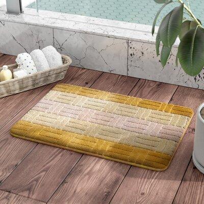 Barbosa Spa Bath Rug Size: 17''W x 24''L, Color: Gold