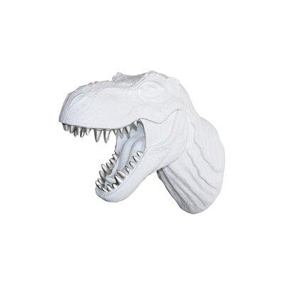 Michaud Jurassic Dinosaur T-Rex Faux Taxidermy Color: White/Silver