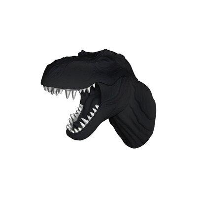 Michaud Jurassic Dinosaur T-Rex Faux Taxidermy Color: Black/Silver