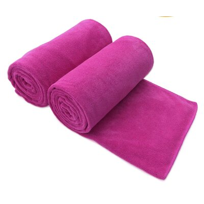 Galligan Microfiber Bath Towel Color: Pink/Purple