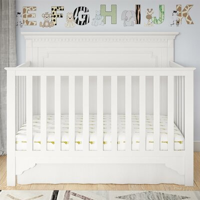 Beery 5-in-1 Convertible Crib Color: White