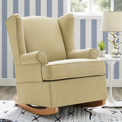 Bender Wingback Rocking Chair Color: Beige