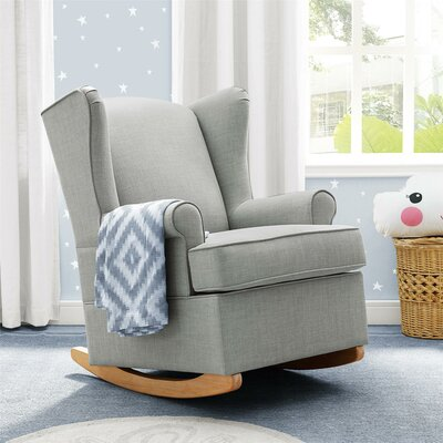 Bender Wingback Rocking Chair Color: Gray