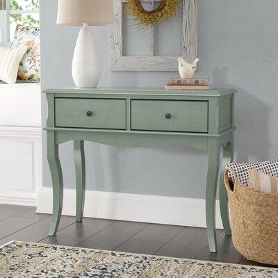 Ledoux Console Table Color: Antique Teal