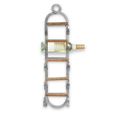 Metal/Wood Wall Mount Wine Rack