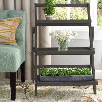 Fenimore Indoor Multi-Tiered Plant Stand Color: Dark Grey