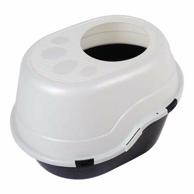 Cat Litter Box Enclosure Color: Black/White