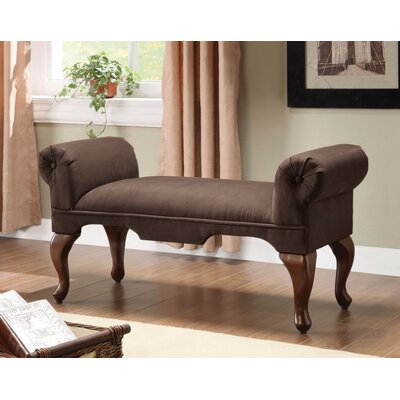 Saechao Upholstered Bench Upholstery: Chocolate