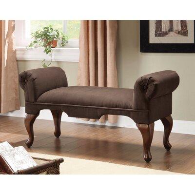 Saechao Upholstered Bench Upholstery: Chocolate