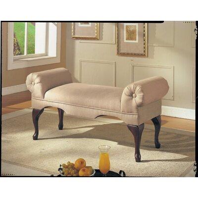 Saechao Upholstered Bench Upholstery: Beige