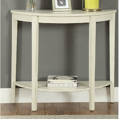 Elonso Half Moon Wooden Console Table