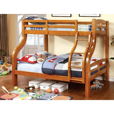 Crosby Twin Over Full Bunk Bed Bed Frame Color: Oak
