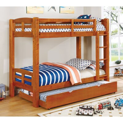 Crosby Twin Over Twin Bunk Bed Bed Frame Color: Oak