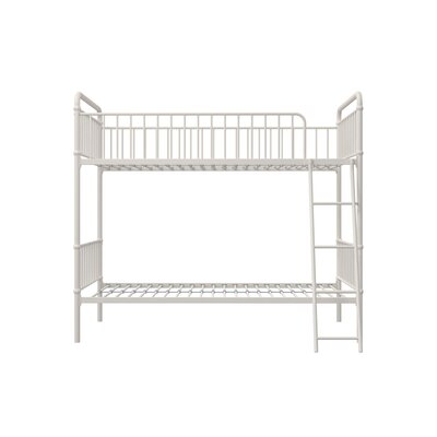 Hutchins Twin Bunk Bed Bed Frame Color: White