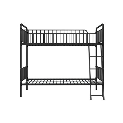 Hutchins Twin Bunk Bed Bed Frame Color: Black