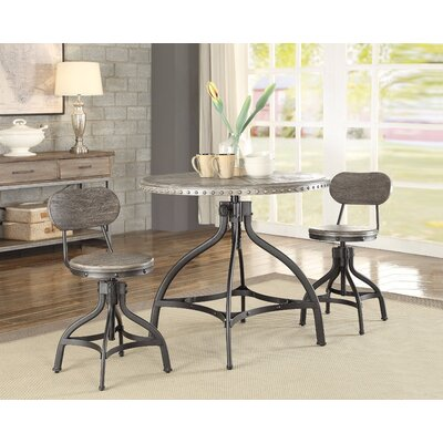 Lohr Beautiful 3 Piece Adjustable Pub Table Set